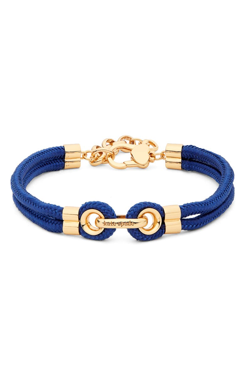 KATE SPADE NEW YORK know the ropes bracelet, Main, color, BLUE