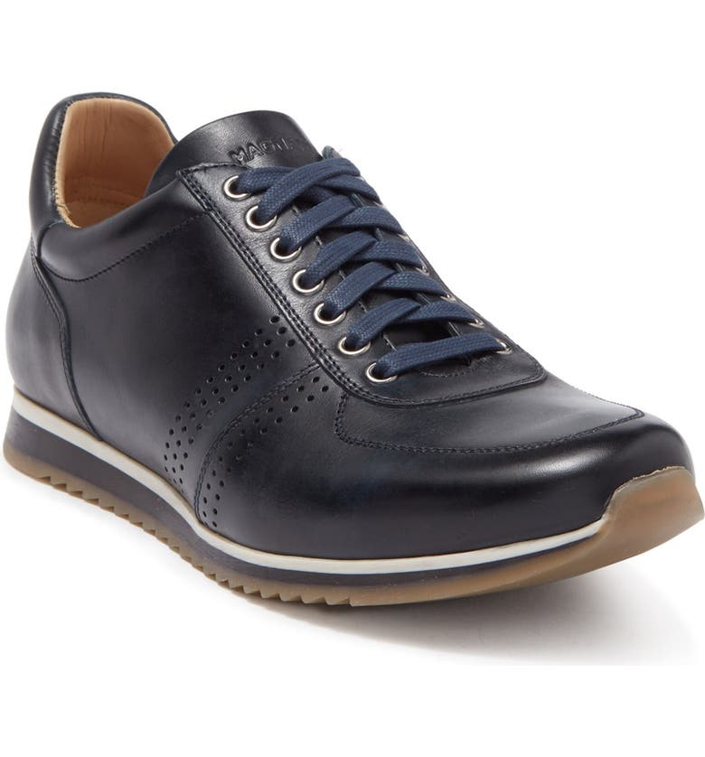 MAGNANNI Thatcher Sneaker, Main, color, NAVY