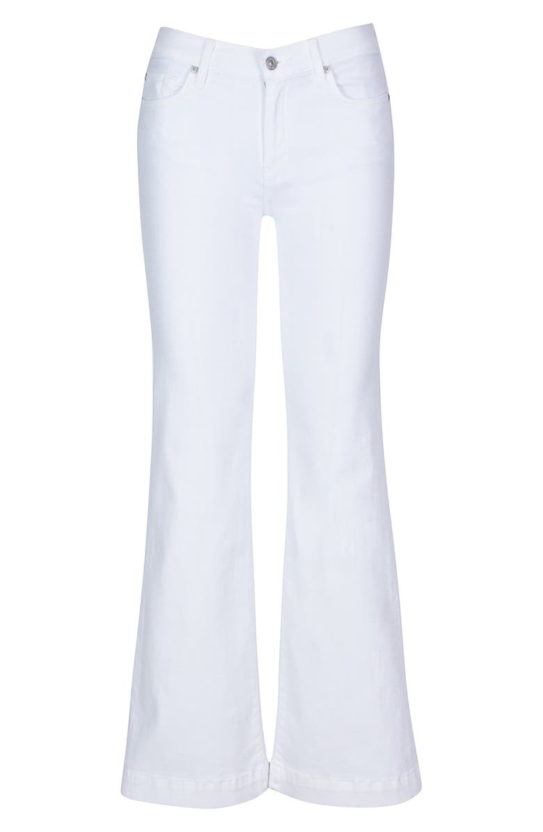 7 FOR ALL MANKIND<SUP>®</SUP> Dojo Tailorless Flare Leg Jeans, Main, color, LUXE WHITE