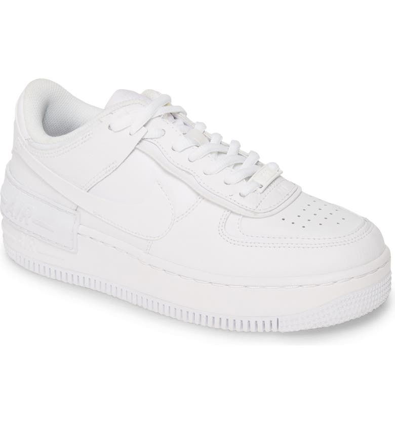 NIKE Air Force 1 Shadow Sneaker, Main, color, WHITE/ WHITE/ WHITE