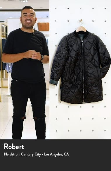 Reversible Quilted Long Jacket, sales video thumbnail