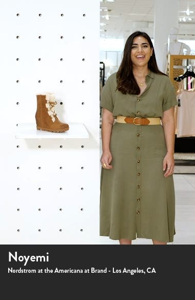 Joan of Arctic<sup>™</sup> Wedge II Genuine Shearling Lace-Up Boot, sales video thumbnail