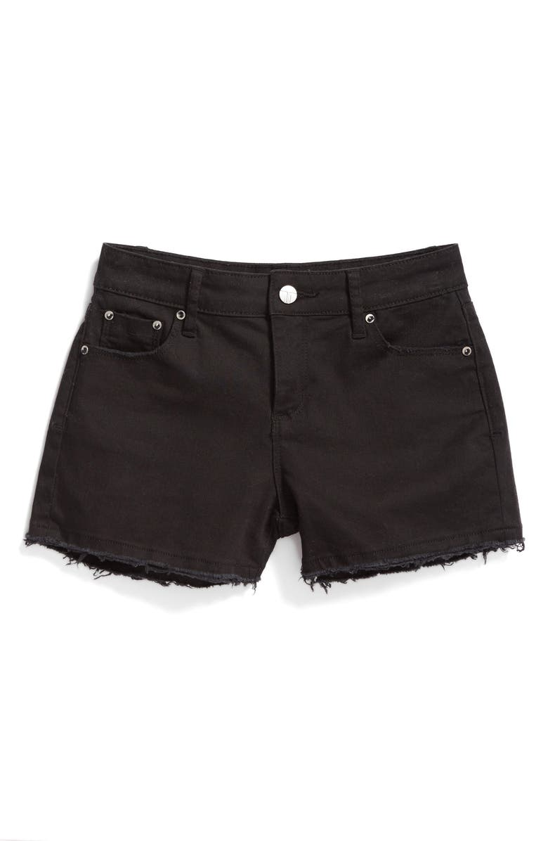 TRACTR Frayed Shorts, Main, color, BLACK