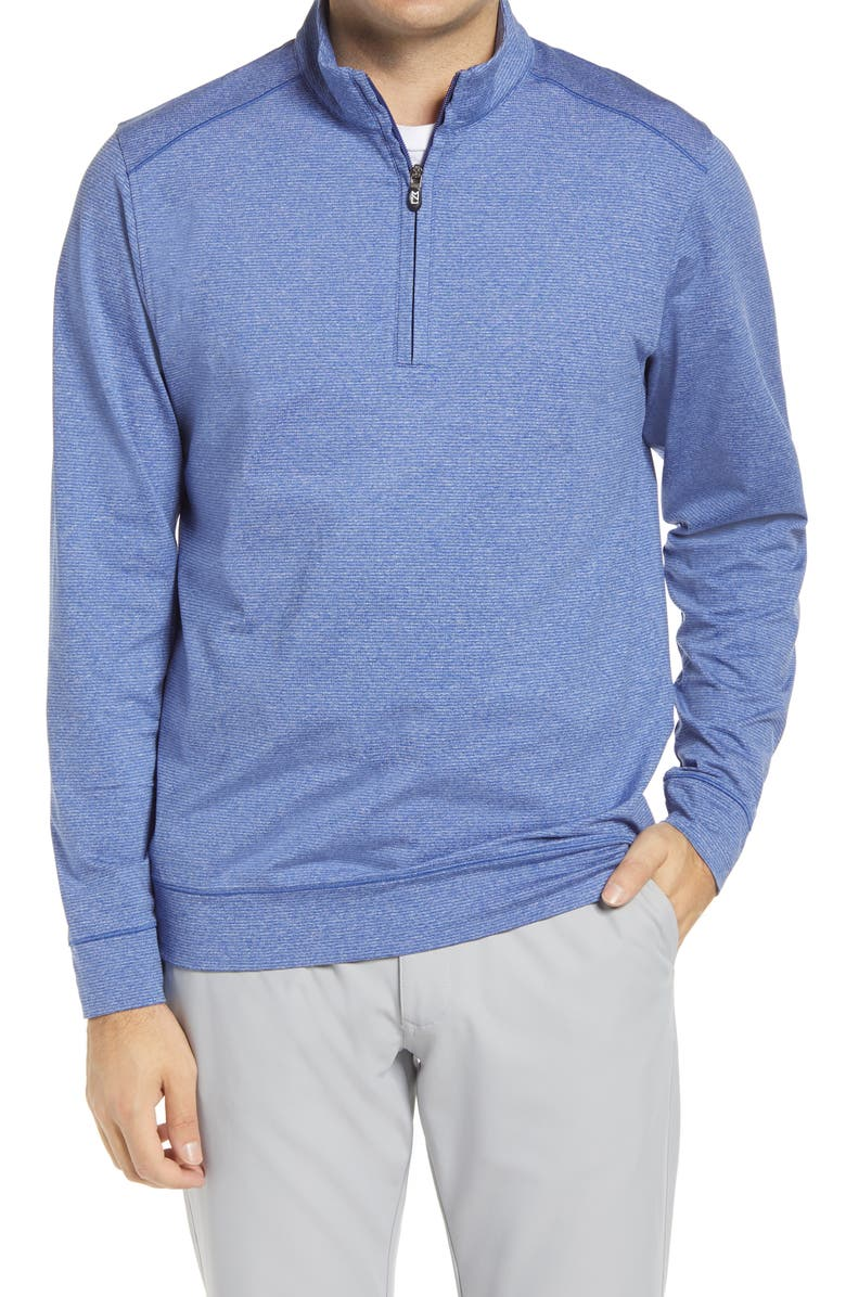 CUTTER & BUCK Shoreline Quarter Zip Pullover, Main, color, TOUR BLUE HEATHER