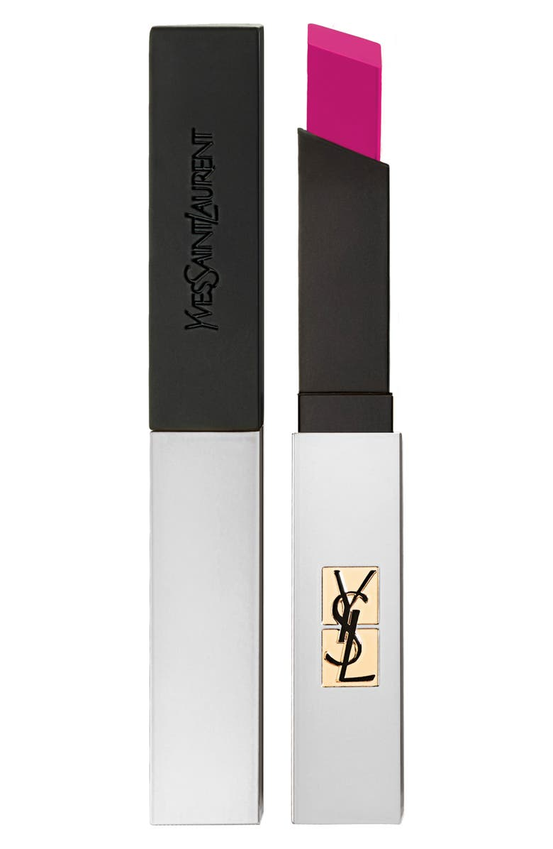 YVES SAINT LAURENT Rouge Pur Couture The Slim Sheer Matte Lipstick, Main, color, 104 FUCHSIA INTIME