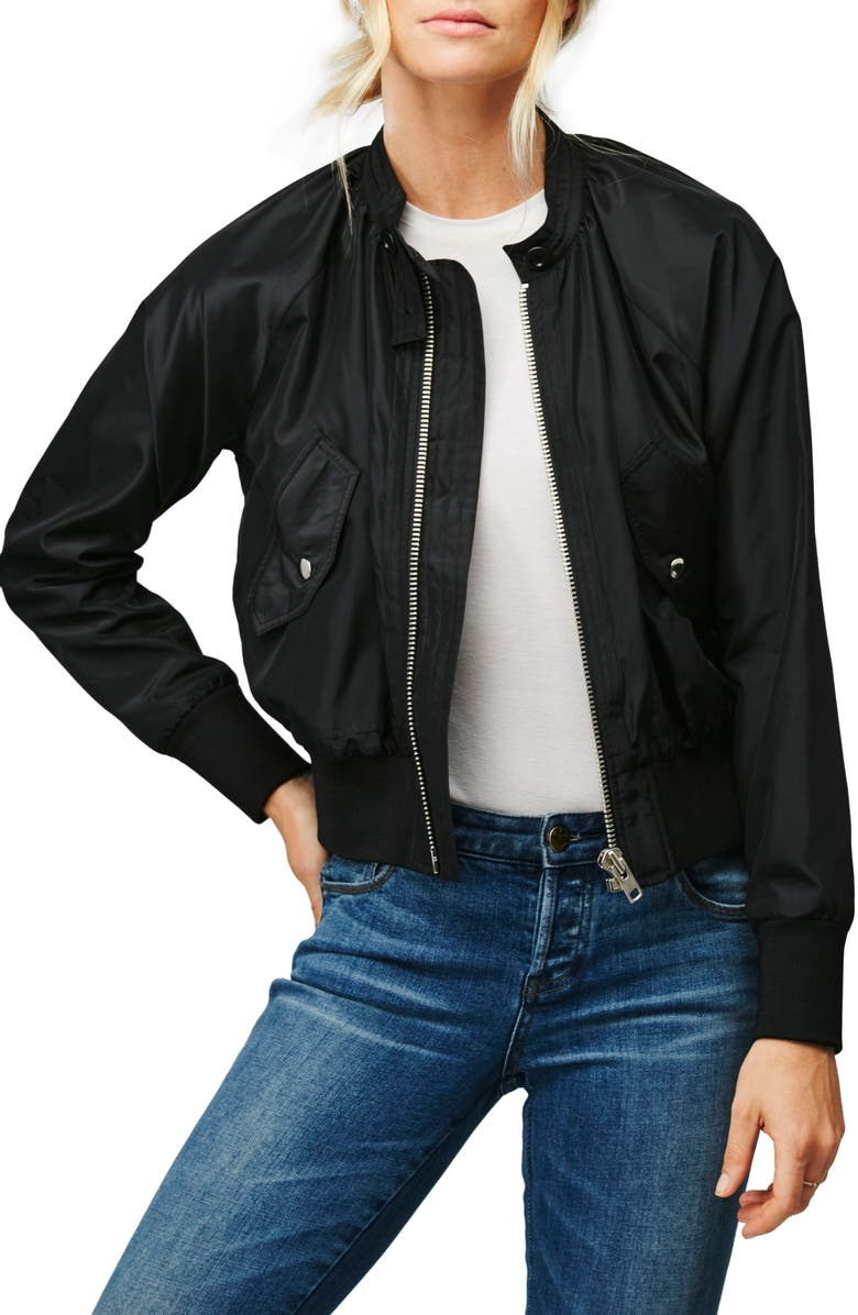 FREE PEOPLE Midnight Bomber Jacket, Main, color, 001