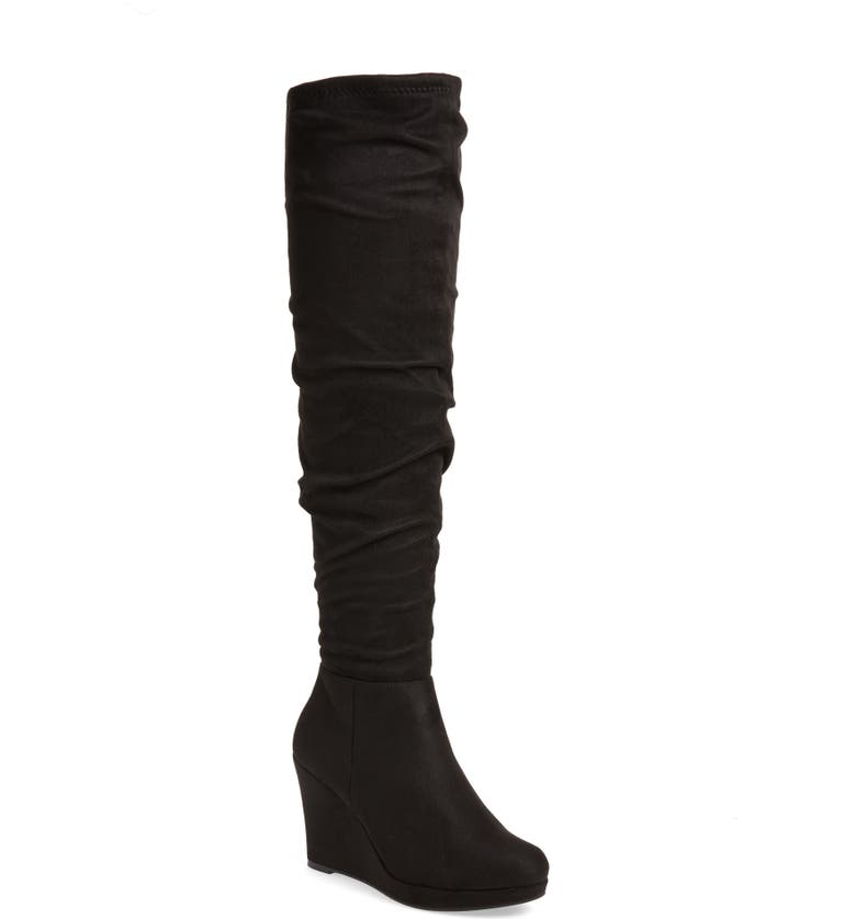 CHINESE LAUNDRY Larisa Over the Knee Boot, Main, color, BLACK SUEDE