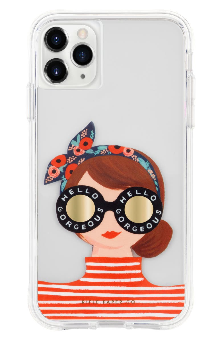 CASE-MATE<SUP>®</SUP> x Rifle Paper Co. Gorgeous Girl iPhone 11/11 Pro & 11 Max Case, Main, color, 800