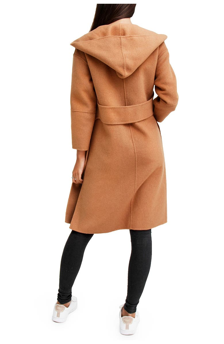 BELLE AND BLOOM Walk This Way Wool Blend Oversized Coat, Main, color, CAMEL
