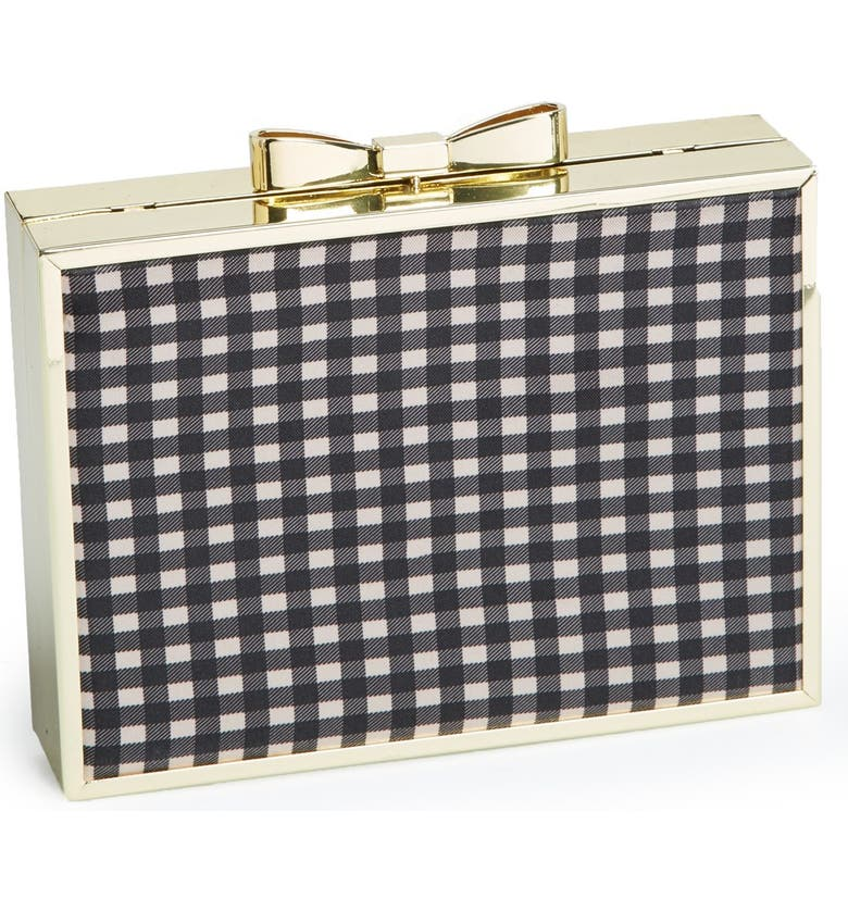 BETSEY JOHNSON Bow Lock Frame Clutch, Main, color, 001