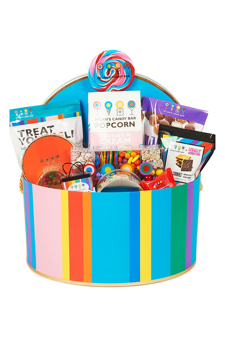 DYLAN'S CANDY BAR Deluxe Hat Box, Main, color, TURQUOISE