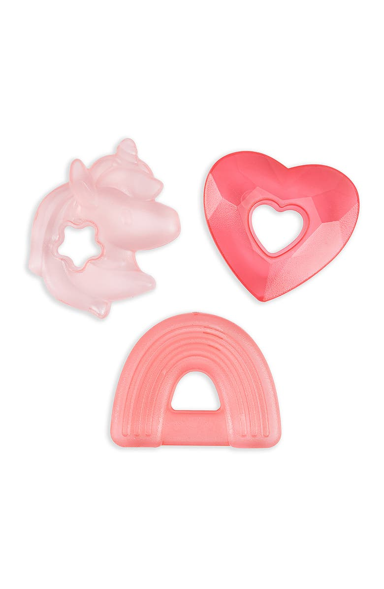 ITZY RITZY Cutie Cooler Water Filled Teethers - Pack of 3, Main, color, PINK