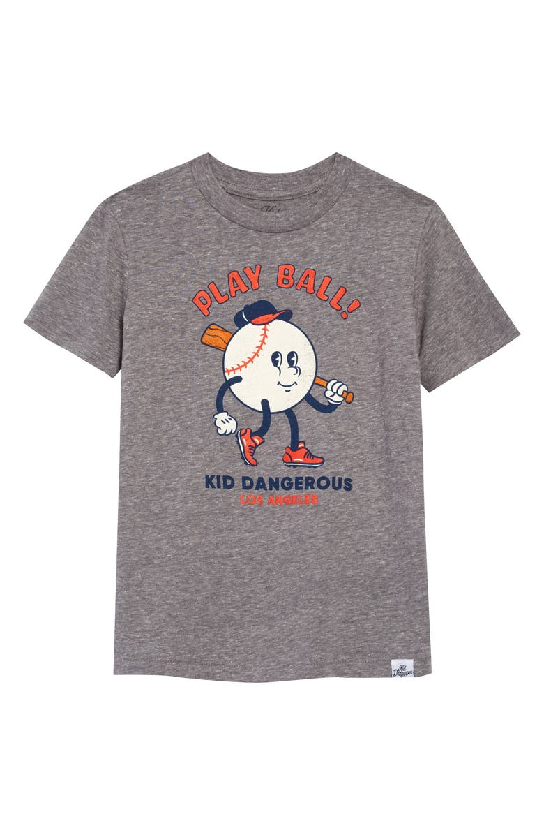 KID DANGEROUS Play Ball Graphic Tee, Main, color, 030