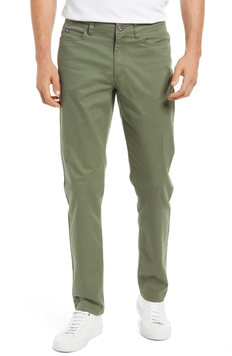CUTTER & BUCK Voyager Straight Leg Pants, Main, color, CAPER GREEN