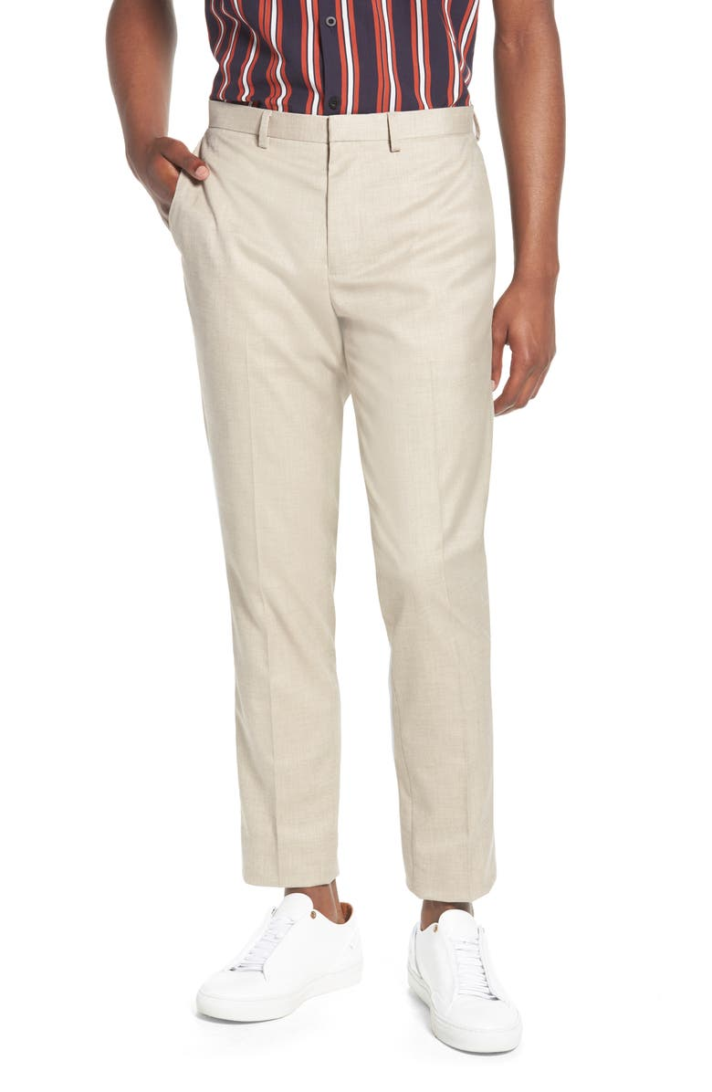 TOPMAN Skinny Fit Suit Trousers, Main, color, 250