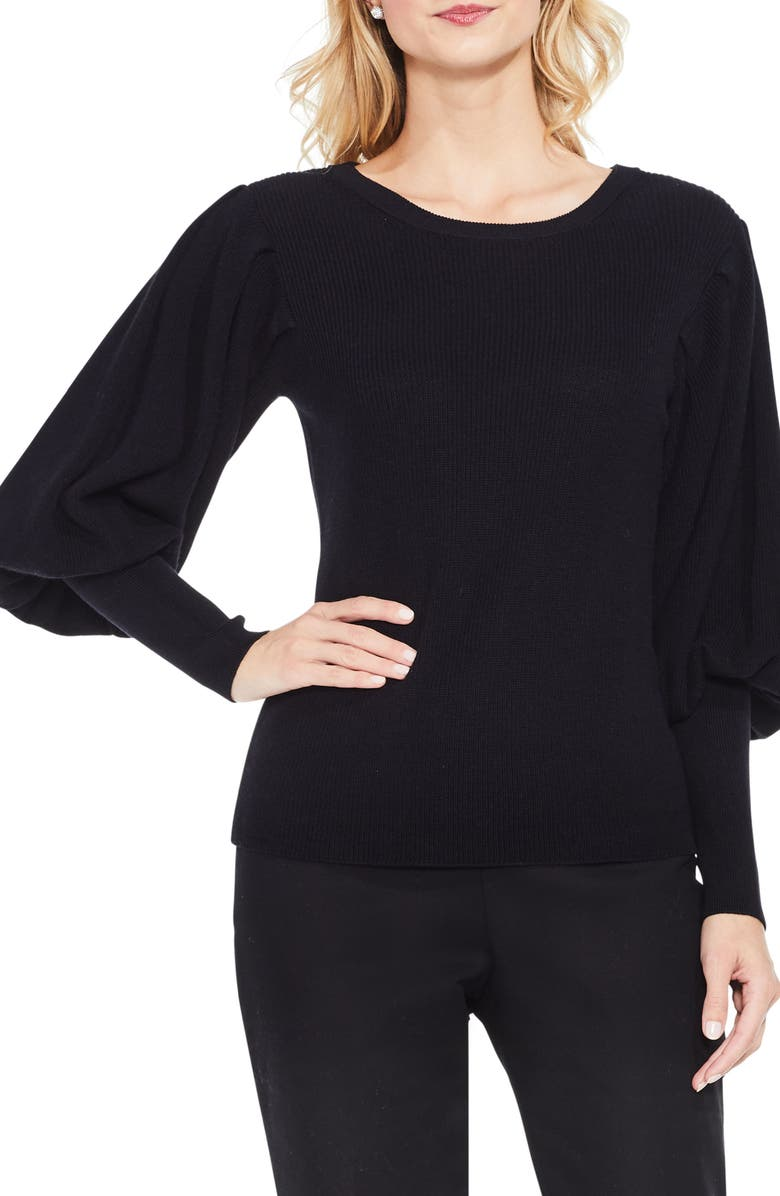 VINCE CAMUTO Bubble Sleeve Sweater, Main, color, 006