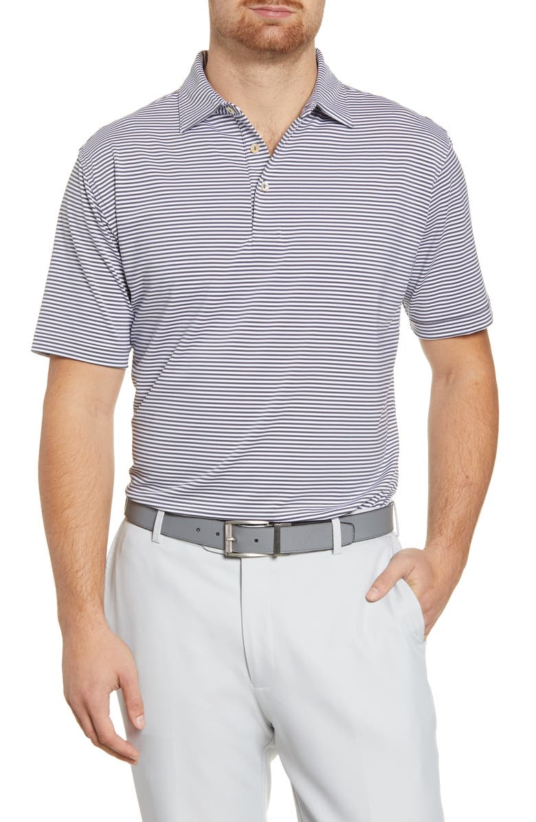PETER MILLAR Hales Stripe Performance Polo, Main, color, IRON