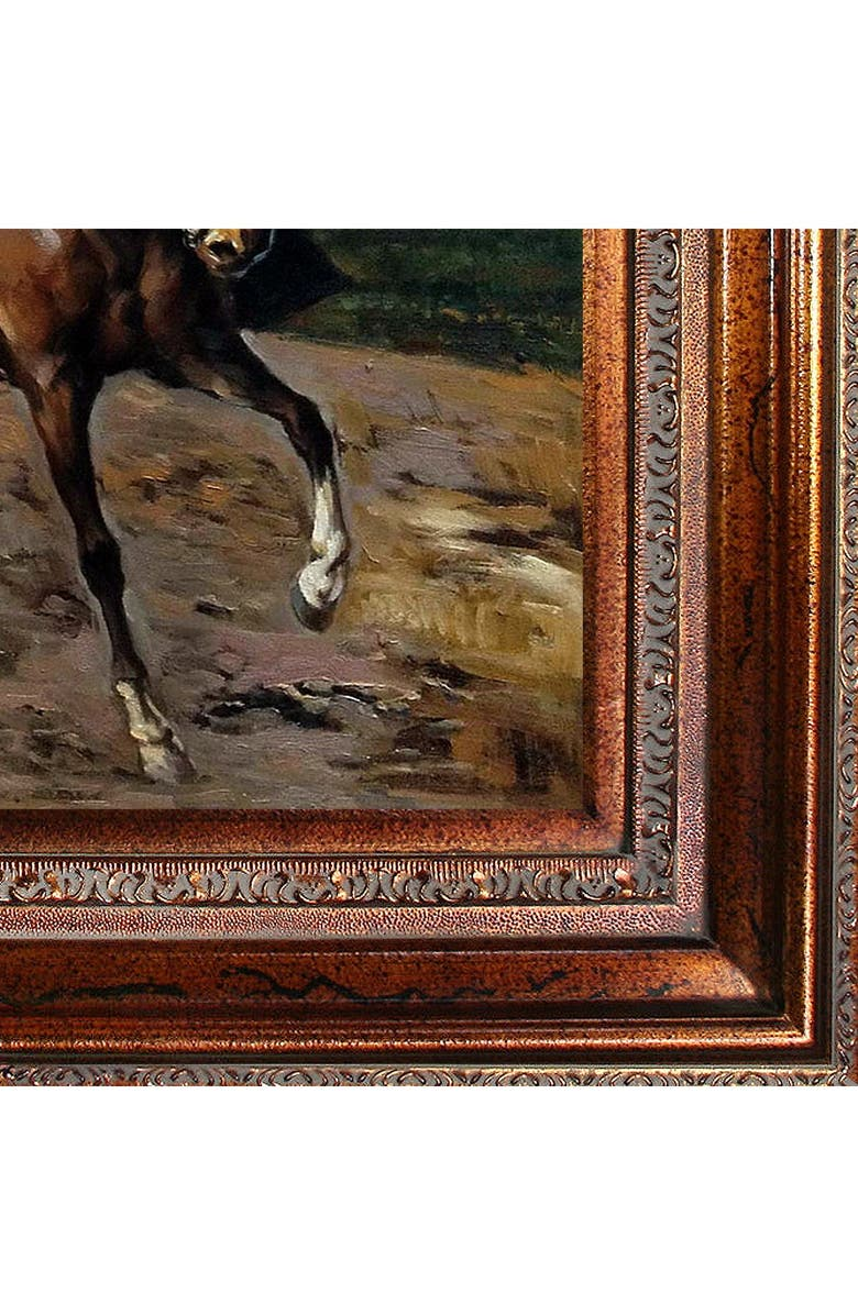 OVERSTOCK ART The Amazon with Puppy Framed Oil Reproduction of an Original Painting by Giovanni Boldini, Main, color, MULTI