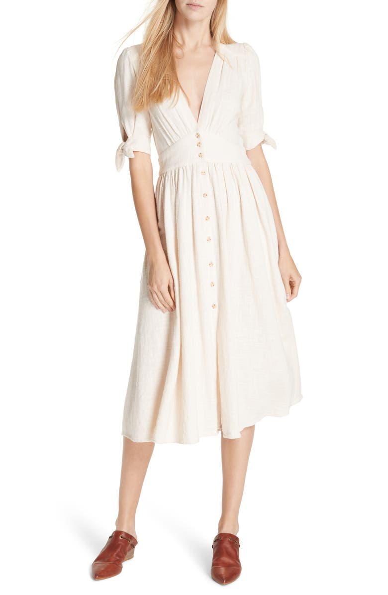 FREE PEOPLE Love of My Life Midi Dress, Main, color, 103