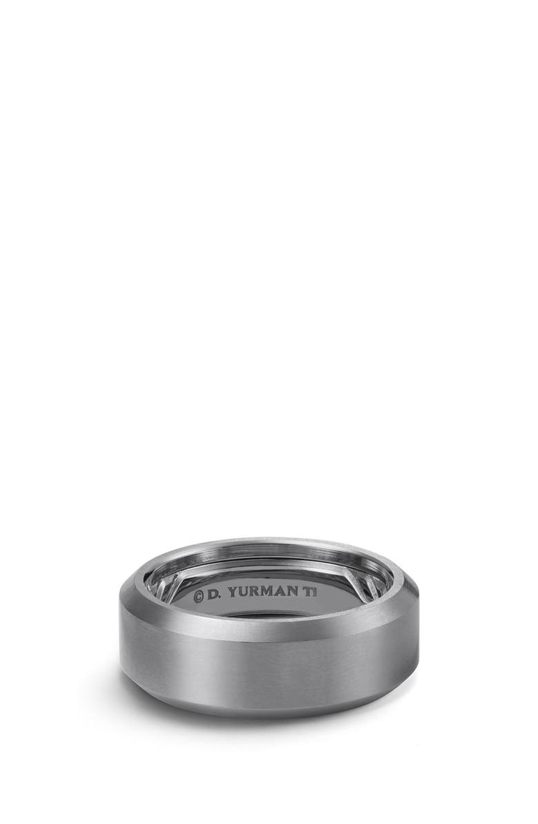 DAVID YURMAN Beveled Titanium Band, Main, color, TITANIUM