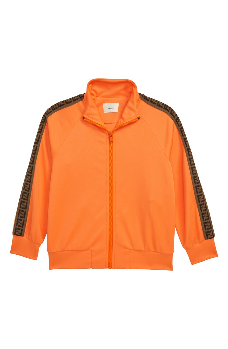 FENDI FF Logo Tape Track Jacket, Main, color, 800