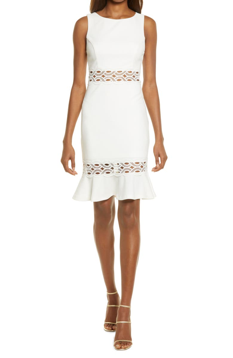 LULUS In The Name of Love Crochet Dress, Main, color, WHITE