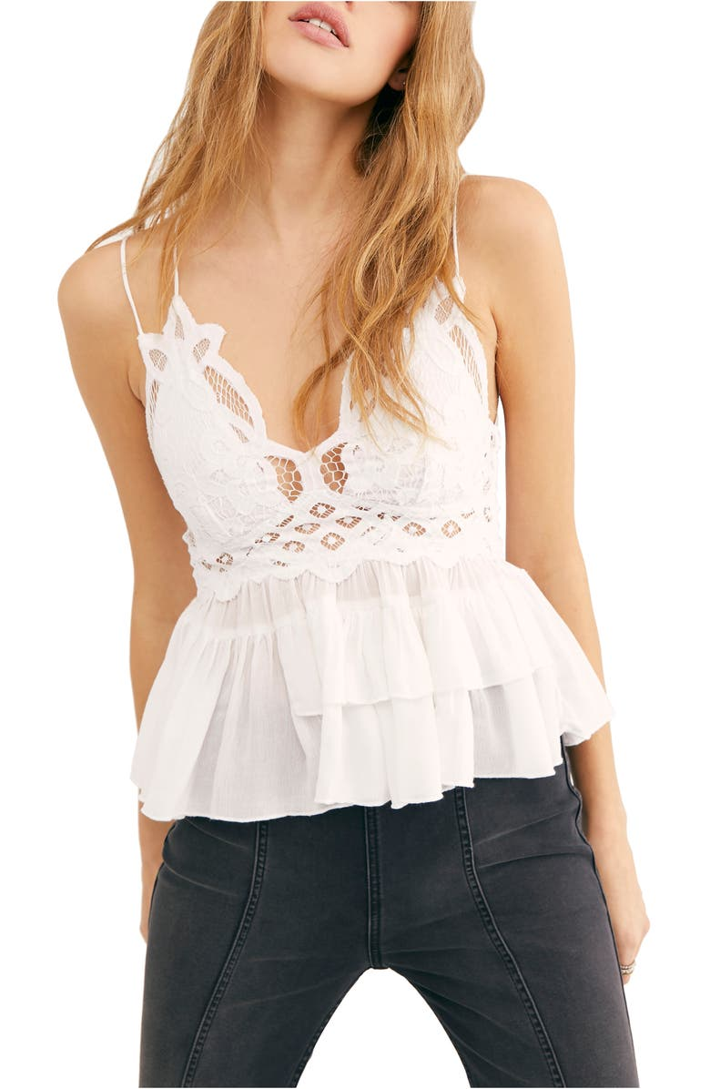 FREE PEOPLE Adella Camisole, Main, color, WHITE