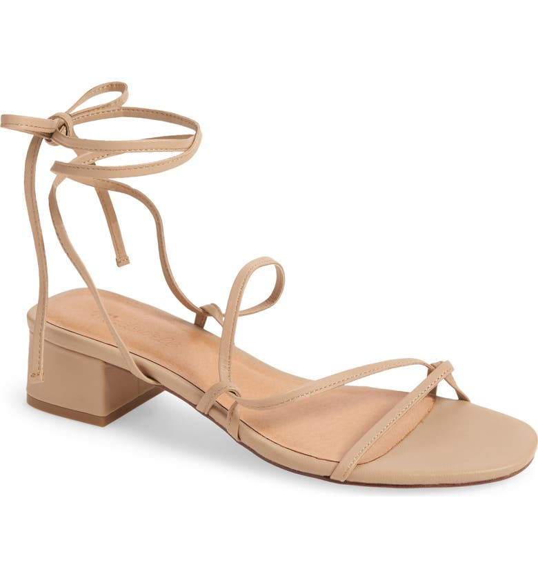 MADEWELL The Brigitte Lace-Up Sandal, Main, color, SANDSTONE