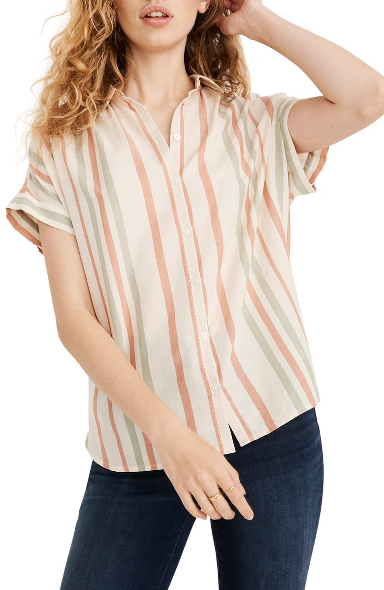 MADEWELL Central Multistripe Shirt, Main, color, 650