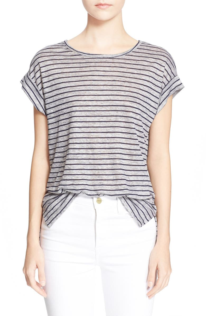 FRAME 'Le Muscle' Tee, Main, color, NAVY STRIPE