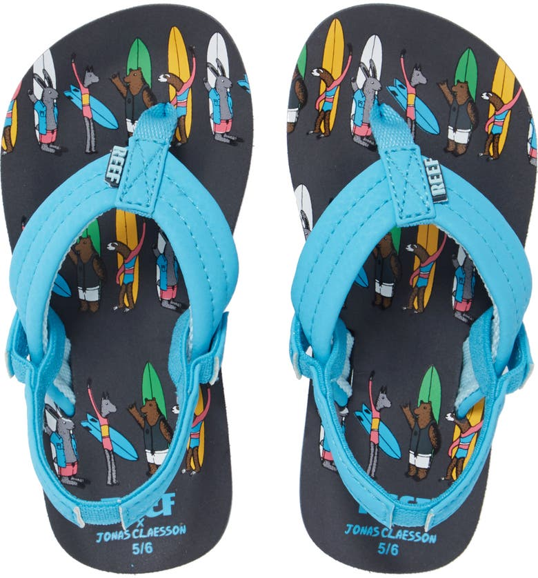 REEF x Jonas Claesson Little Ahi Sandal, Main, color, SURFING FRIENDS