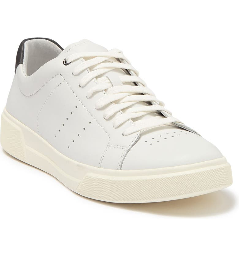 VINCE Brady Lace-Up Leather Sneaker, Main, color, WHITE