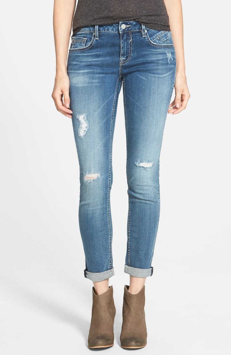 VIGOSS 'Tomboy' Distressed Skinny Jeans, Main, color, 400