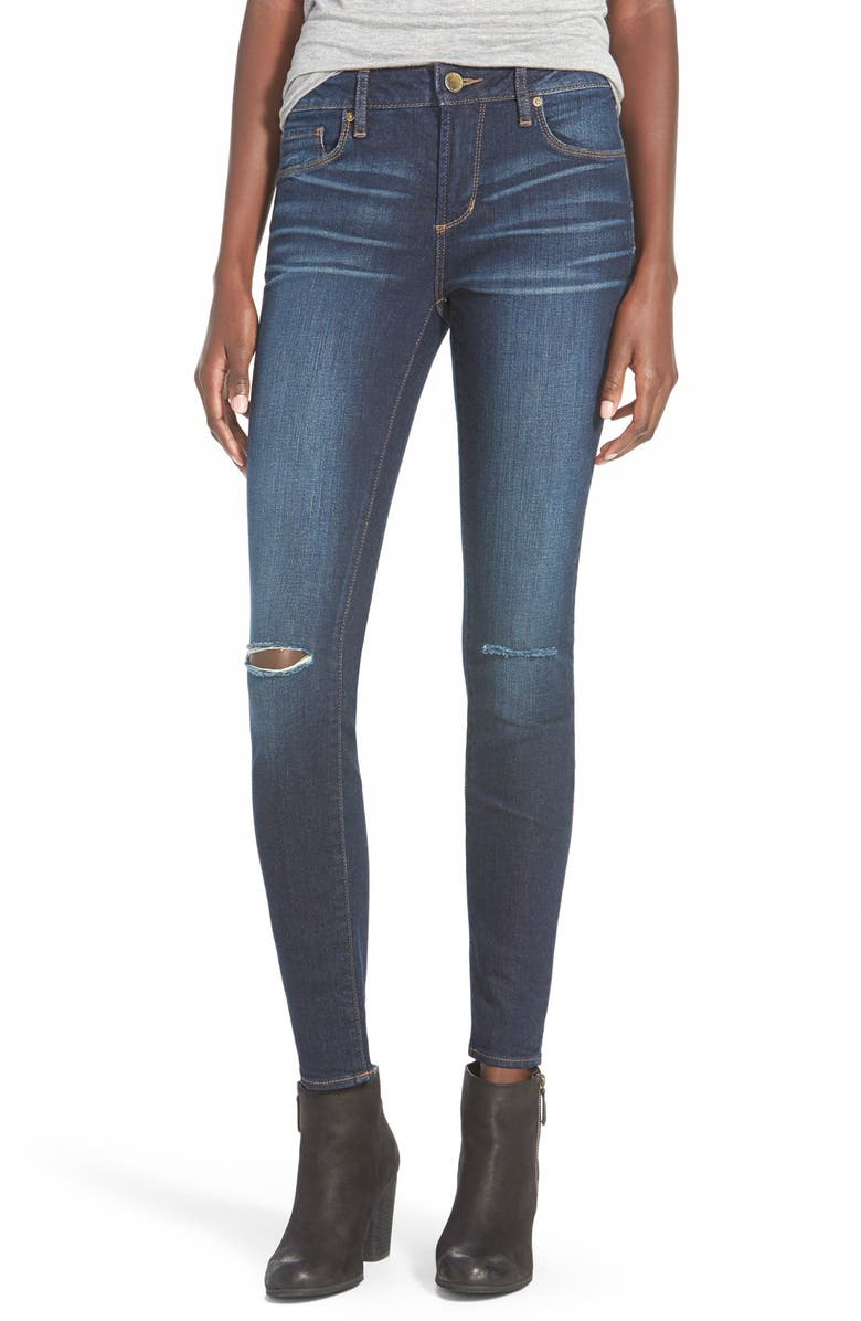 ARTICLES OF SOCIETY Red Label 'Soho' Distressed Skinny Jeans, Main, color, 400