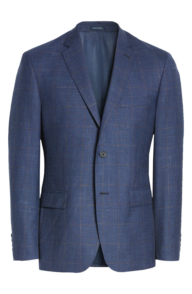 JOHN W. NORDSTROM<SUP>®</SUP> Plaid Wool Blend Sport Coat, Main, color, BLUE ESTATE BROWN PLAID