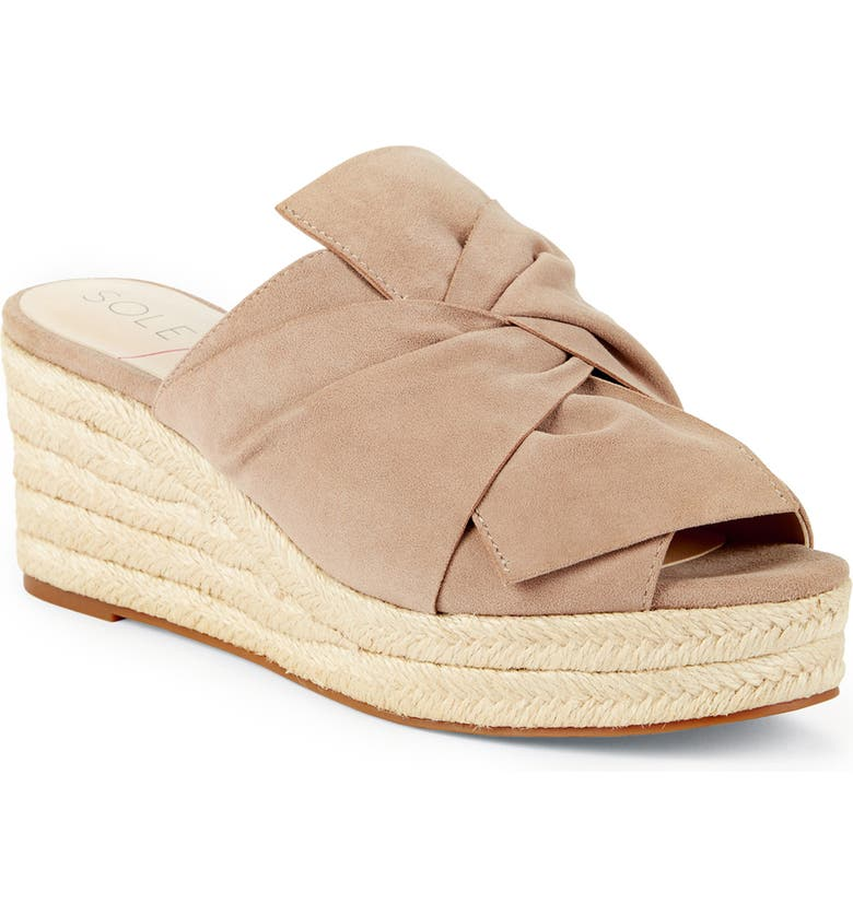 SOLE SOCIETY Carima Espadrille Wedge, Main, color, TAUPE SUEDE