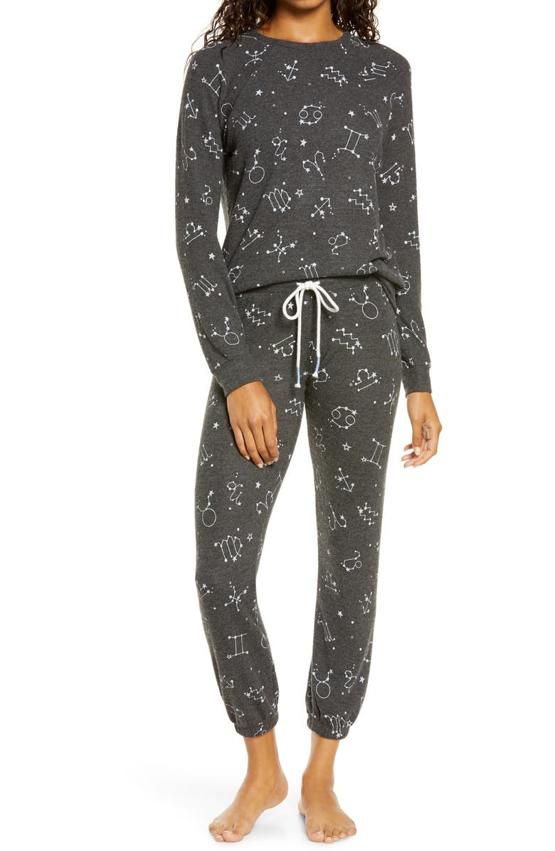 PJ SALVAGE What's Your Sign Pajama Pants, Main, color, 012