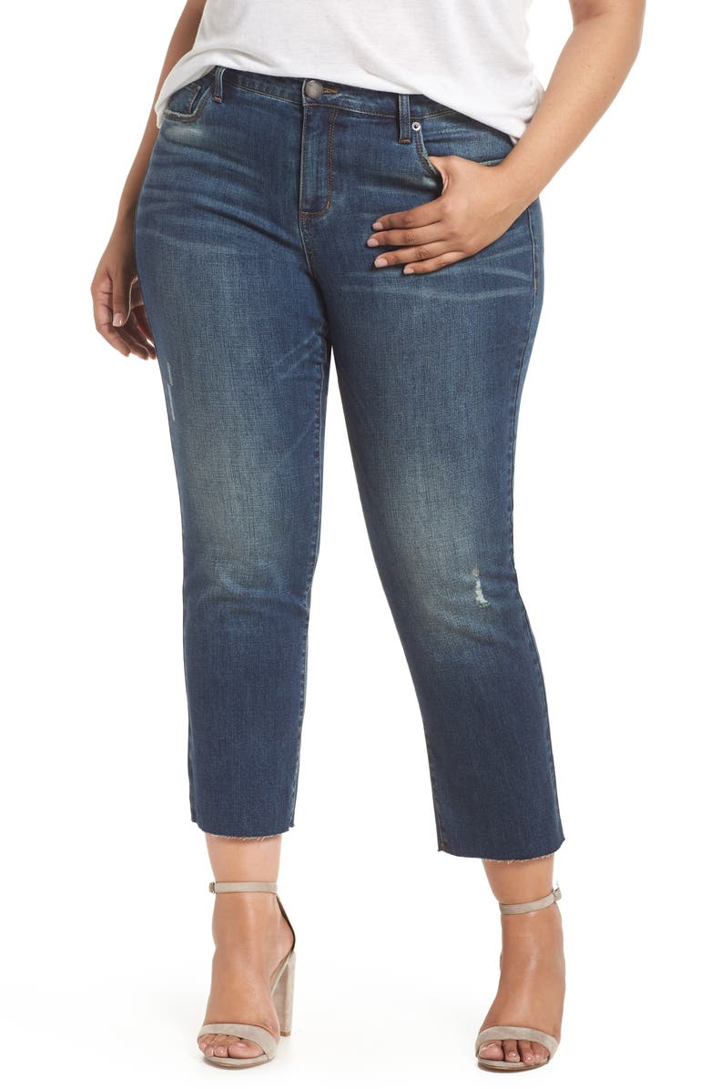 STS BLUE Cara Cuffed Slim Straight Jeans, Main, color, 400