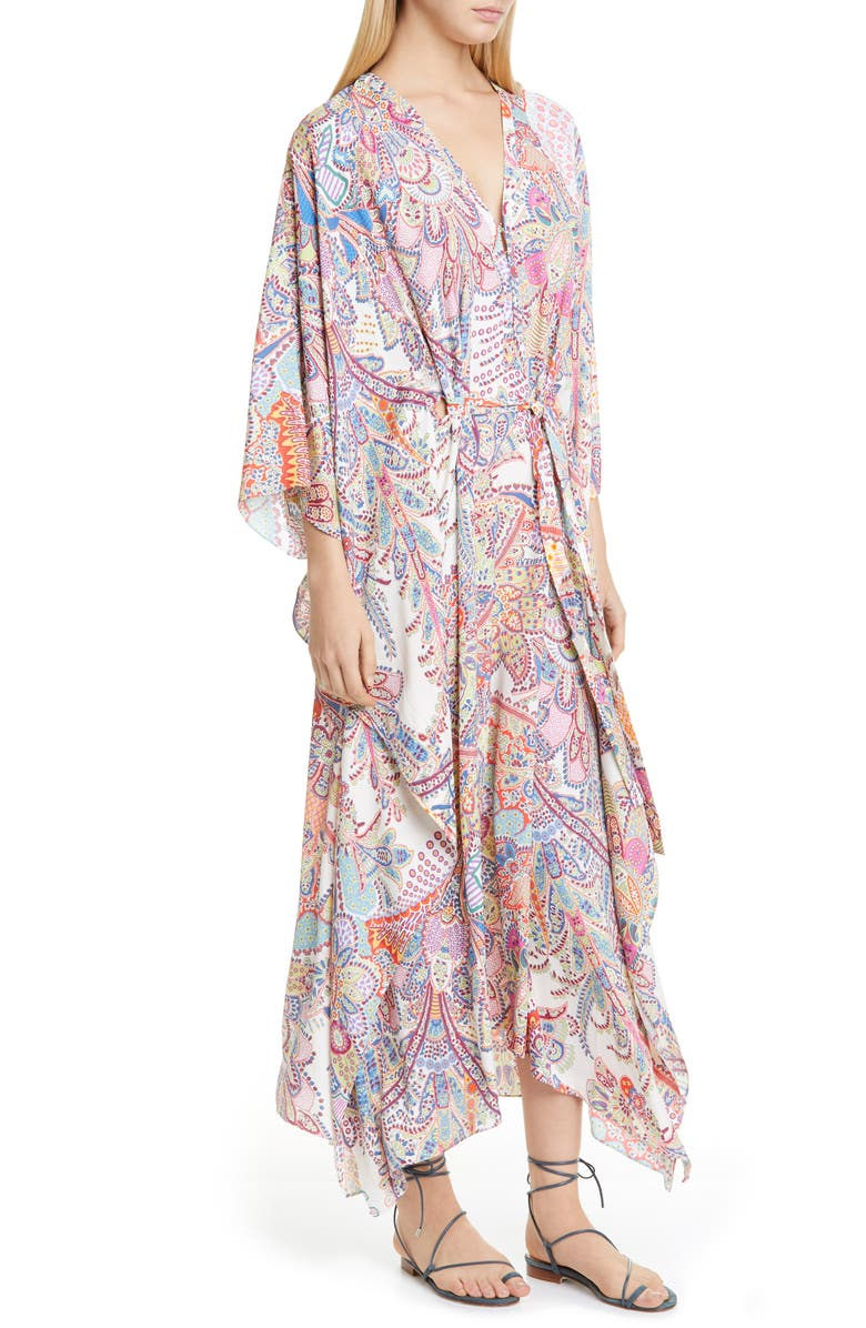 ETRO Paisley Cover-Up Caftan, Main, color, 900