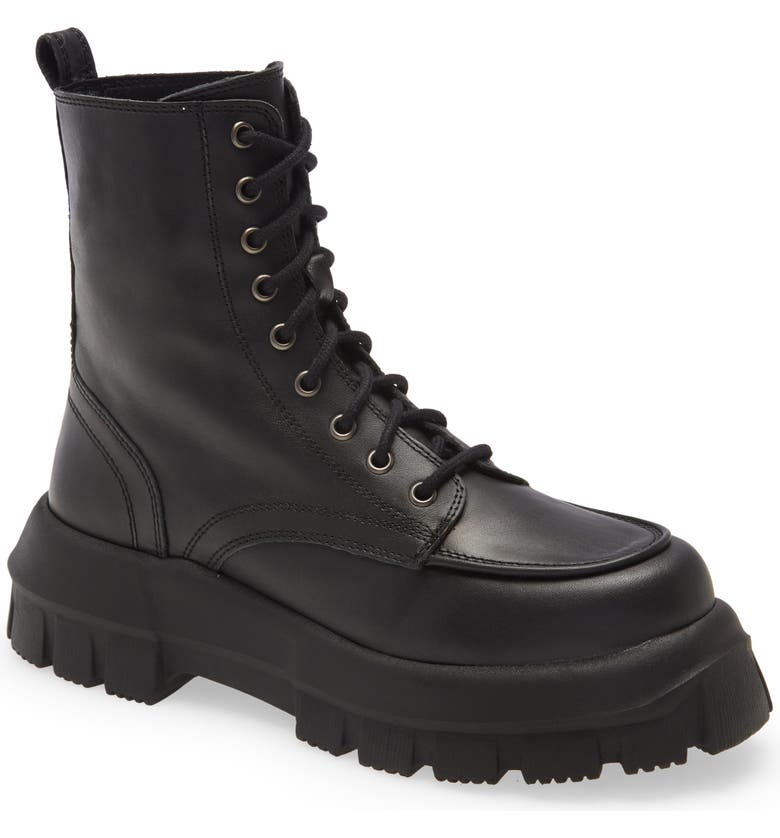 TOPSHOP Ava Platform Combat Boot, Main, color, BLACK