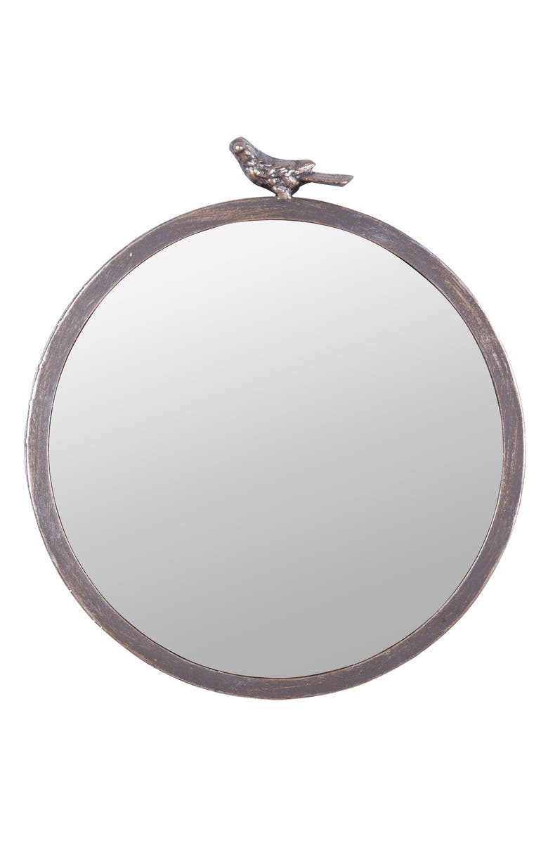 FORESIDE Bird Round Wall Mirror, Main, color, 040