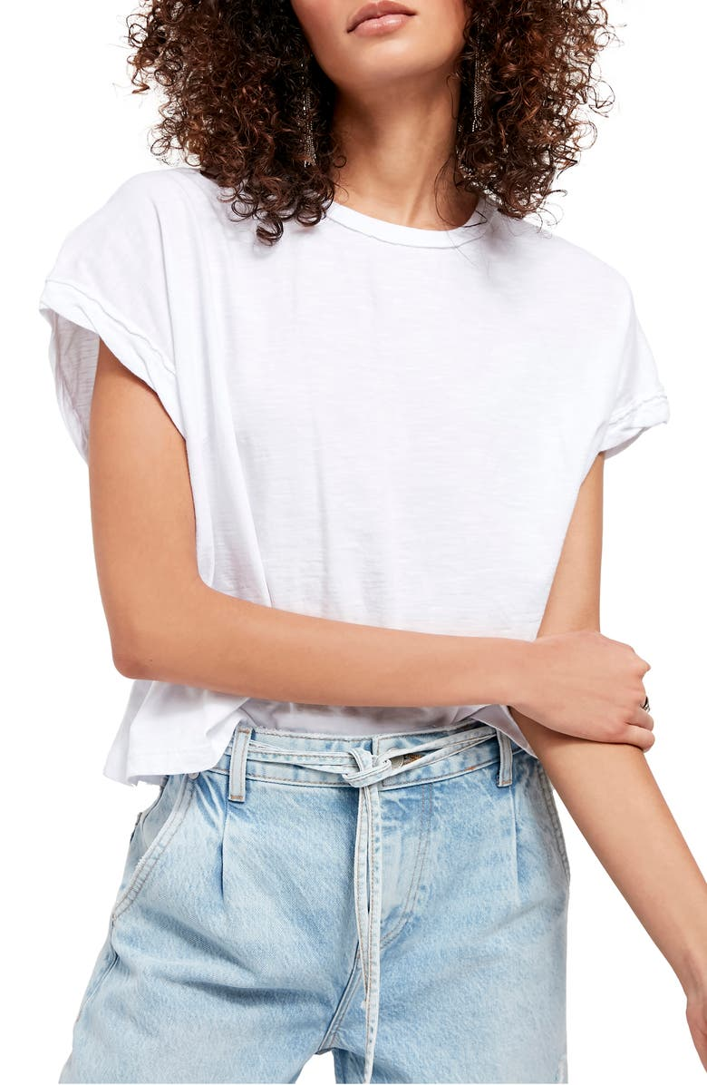 FREE PEOPLE You Rock T-Shirt, Main, color, OPTIC WHITE