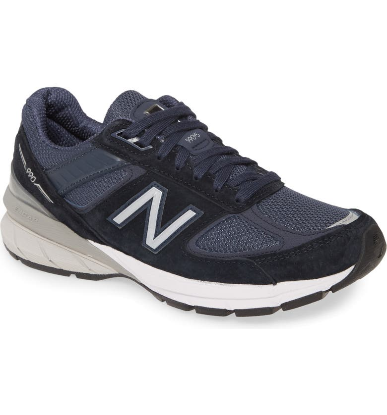 NEW BALANCE 990v5 Sneaker, Main, color, NAVY