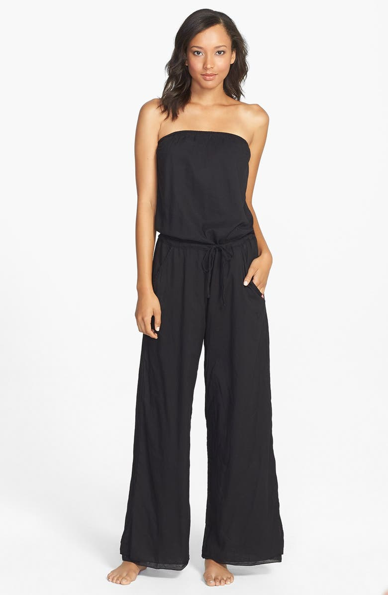 HARD TAIL Strapless Jumpsuit, Main, color, 001