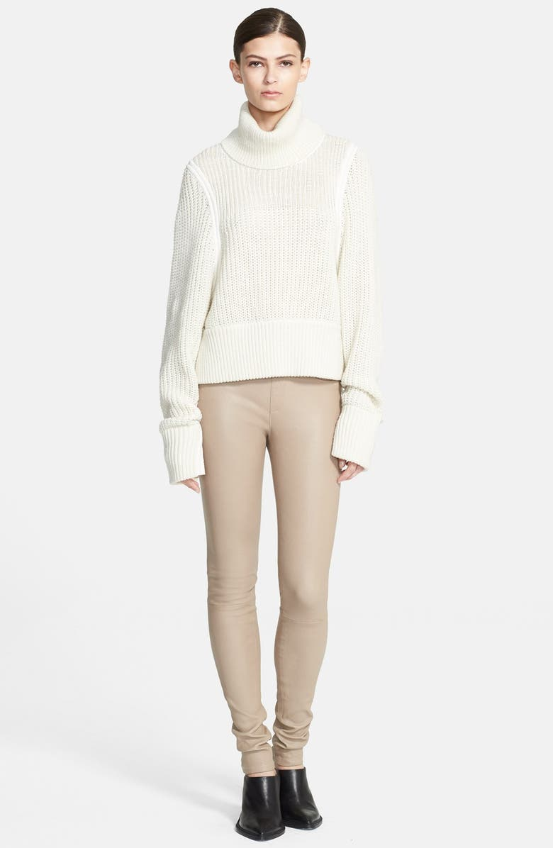 HELMUT LANG Chunky Knit Turtleneck Sweater, Main, color, Natural