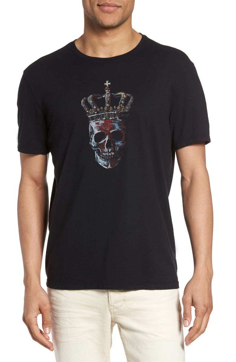JOHN VARVATOS STAR USA Skull Graphic T-Shirt, Main, color, 001