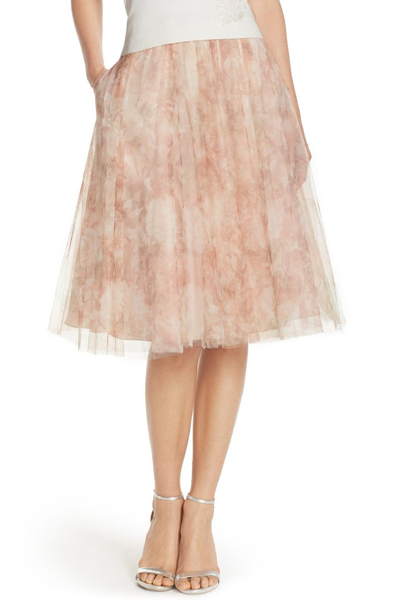 JENNY YOO Lucy Print Tulle Skirt, Main, color, 690