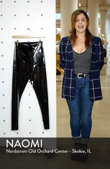 Control Top Faux Patent Leather Leggings, sales video thumbnail