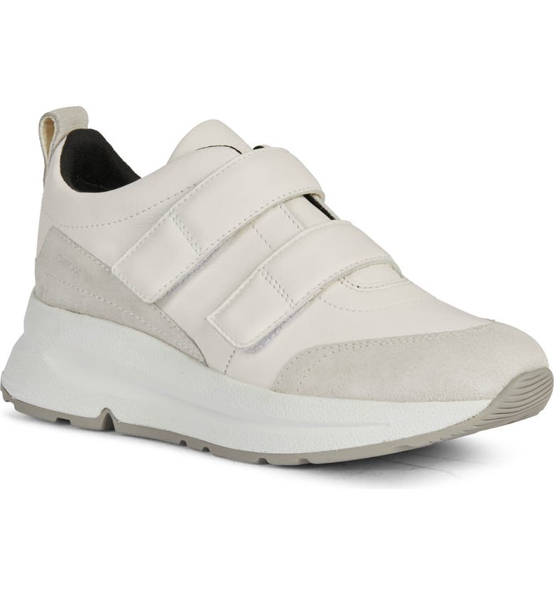 GEOX Backsie Sneaker, Main, color, WHITE/ OFF WHITE