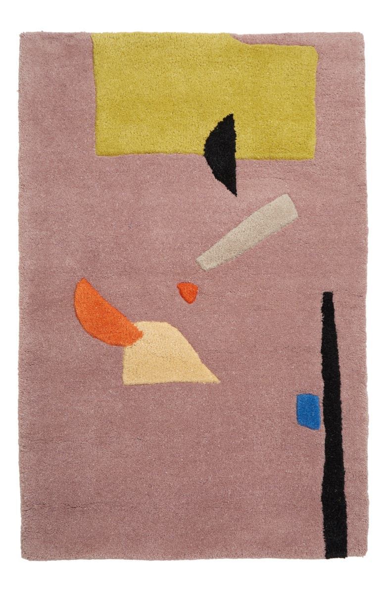 COLD PICNIC Night of Squid Hand Tufted Wool Rug, Main, color, 500